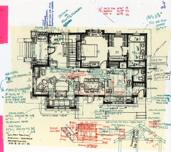 Process sketch - early floor plan