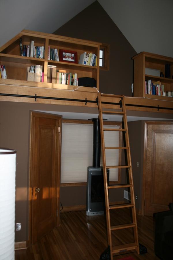 Master suite, loft library